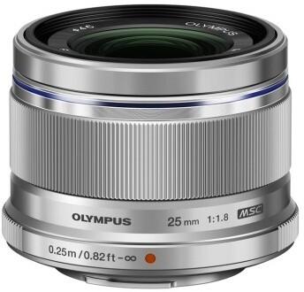 Olympus ES-M2518 M.ZUIKO DIGITAL 25mm, F1.8, stříbrná
