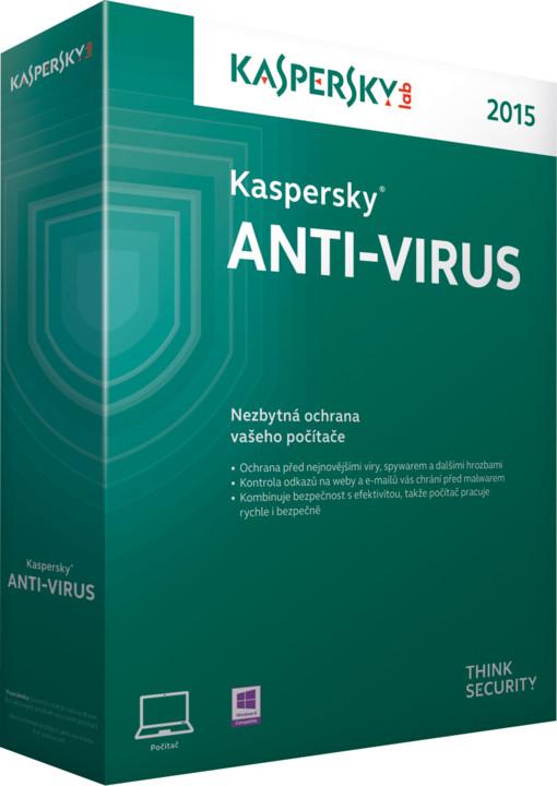 Kaspersky Anti-Virus 2017 CZ, 1PC, 2 roky