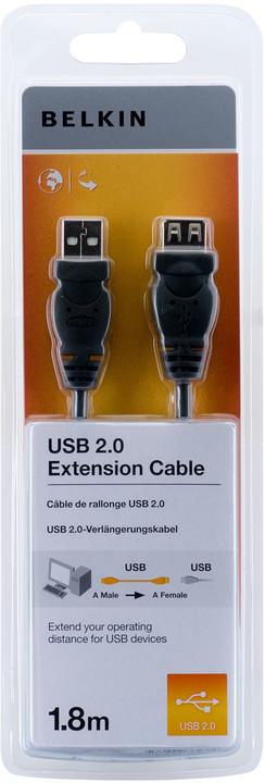 Belkin prodlužovací USB 2.0 kabel A-A, řada standard, 1.8 m