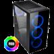 Evolveo Ptero Q12, 4x120mm RGB, sklo, černá