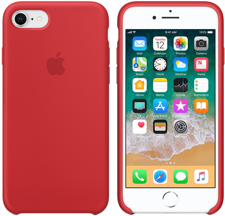 Apple silikonový kryt na iPhone 8/7 (PRODUCT)RED, červená