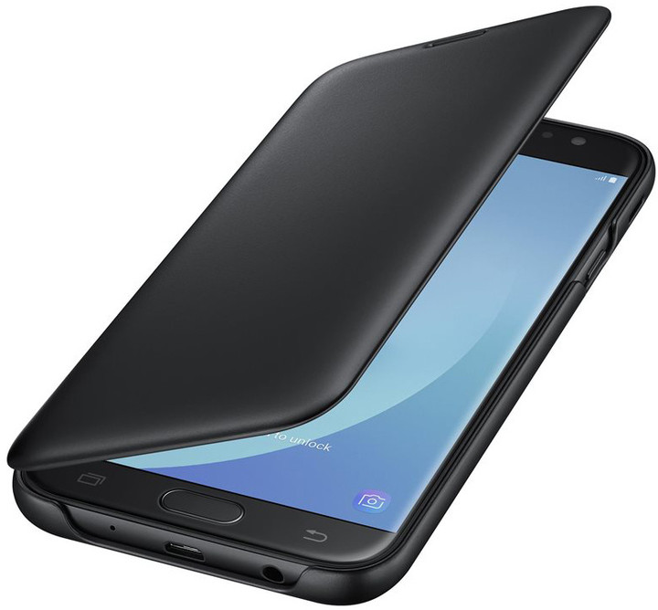 Samsung Galaxy J7 Flipové pouzdro, Wallet Cover, černé