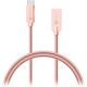 CONNECT IT Wirez Steel Knight USB-C (Type C) - USB-A, metallic rose-gold, 2,1A, 1 m