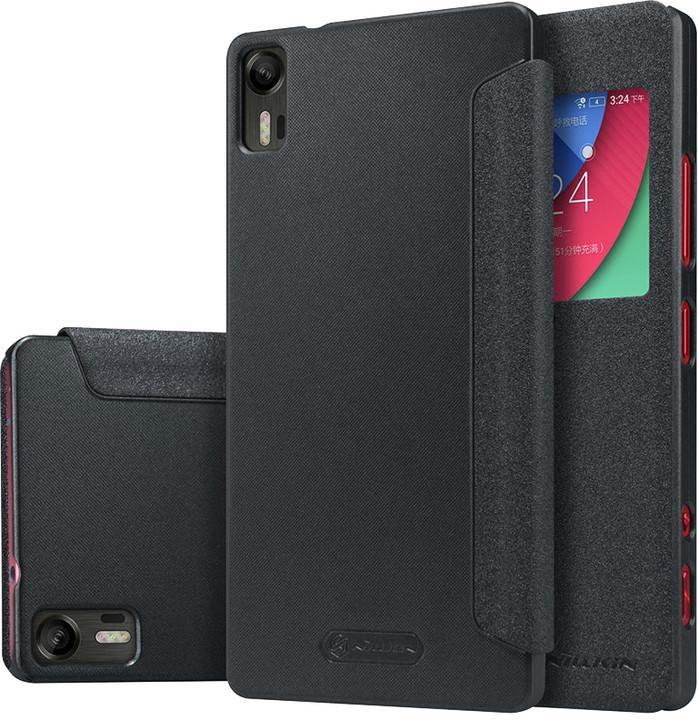 Nillkin Sparkle S-View pouzdro pro Lenovo Z90 Vibe Shot, černá