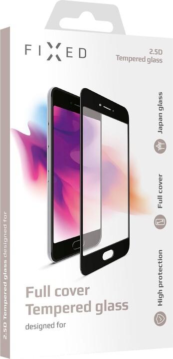 FIXED ochranné tvrzené sklo Full-Cover pro Honor 9A, lepení přes celý displej, černá