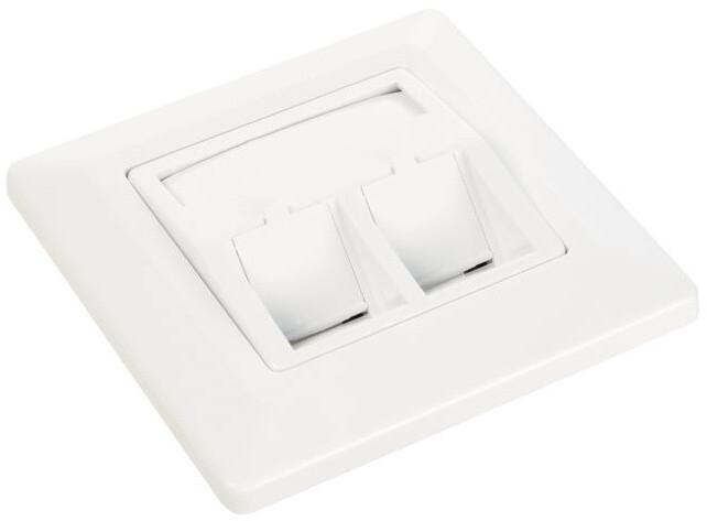 Solarix zásuvka modulární pro 2 keystony pod omítku bílá SX9-2-0-WH