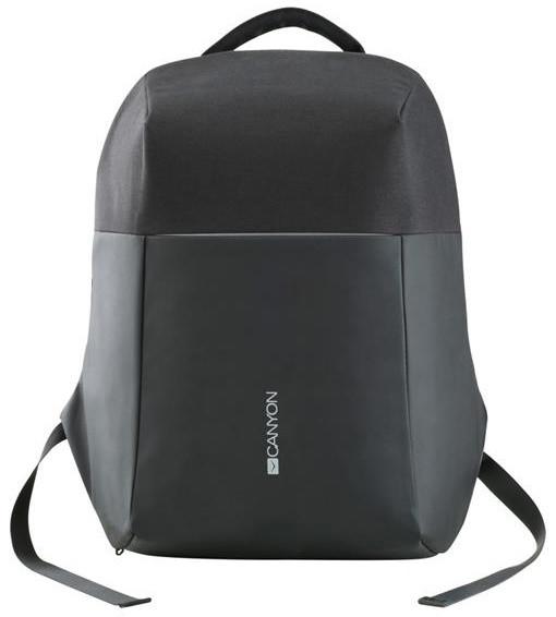 """Canyon batoh proti zlodějům, pro 15.6"""" ntb, integrovaný USB konektor, černá"""