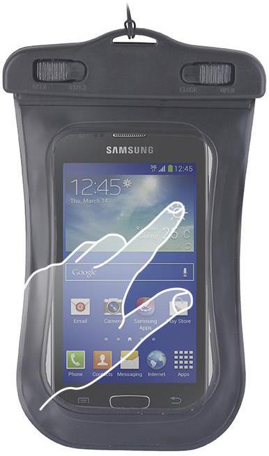 """Forever voděodolné pouzdro pro telefony M 3.5"""" - 4.5"""" - černé"""