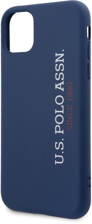 U.S. Polo silikonový kryt pro iPhone 11 Pro, modrá