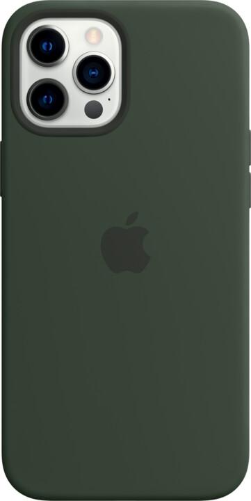 Apple silikonový kryt s MagSafe pro iPhone 12 Pro Max, zelená