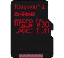 Kingston Micro SDXC Canvas React 64GB 100MB/s UHS-I U3 SDCR/64GBSP