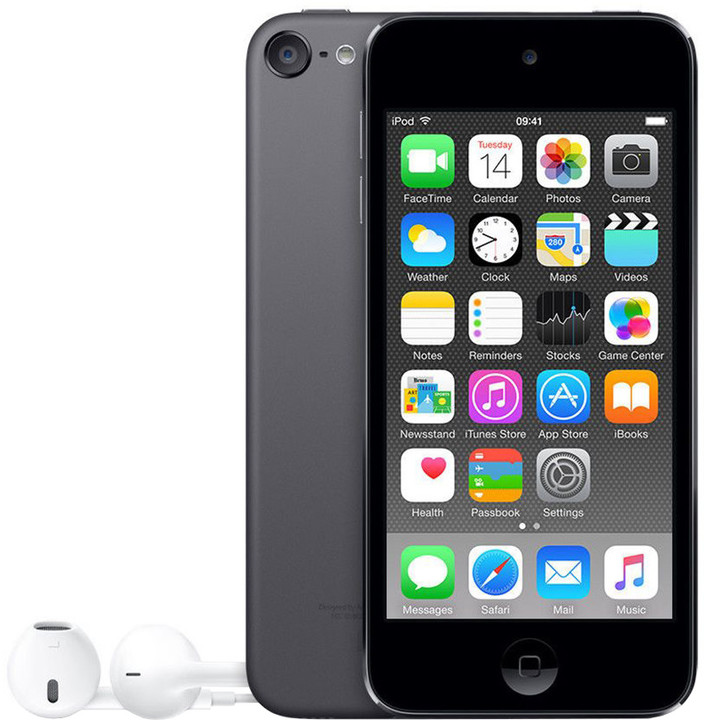 Apple iPod touch - 128GB, šedá, 6th gen.