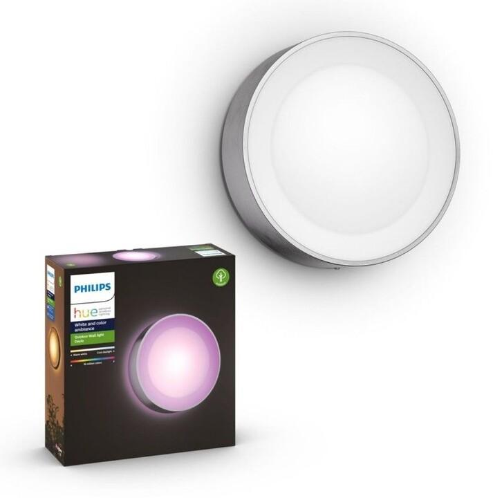 Philips Venkovní svítidlo HUE Daylo, LED, RGB, 15W, nerez