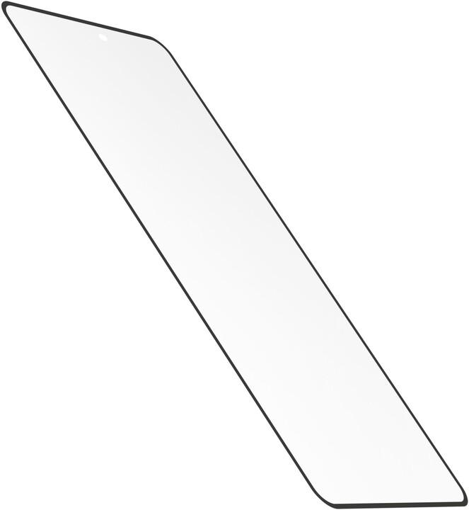 Cellularline ochranné tvrzené sklo Antibiom pro Samsung Galaxy S21+, antimikrobiální, černá