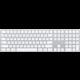 Apple Magic Keyboard s numerickou klávesnicí, bluetooth, stříbrná, SK