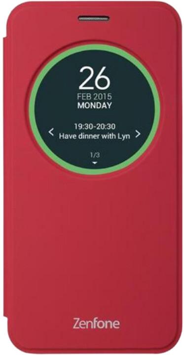 ASUS view cover ZE500KL flipové pouzdro s okénkem, červená