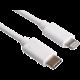 PremiumCord kabel Lightning - USB-C, nabíjecí a datový kabel MFi pro Apple iPhone/iPad, 0,5m