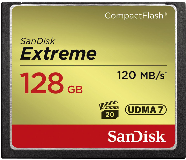 SanDisk CompactFlash Extreme 128GB 120 MB/s