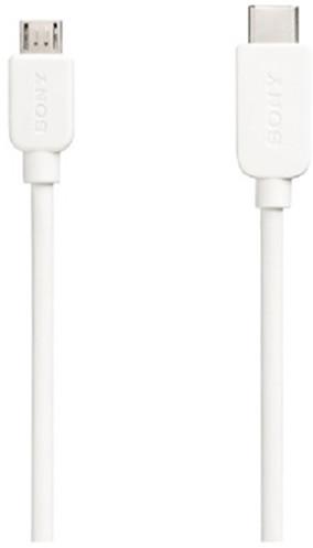 Sony micro USB / USB Type C, 3A, 1m, bílý