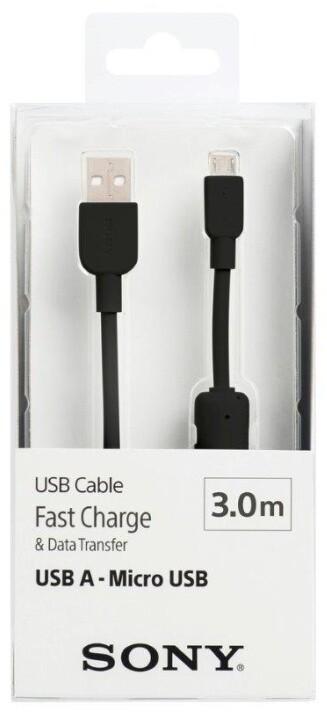SONY kabel A-B 300cm, černá