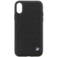 BMW Hexagon kožený zadní kryt pro iPhone X, černý  + Voucher až na 3 měsíce HBO GO jako dárek (max 1 ks na objednávku)