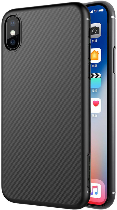 Nillkin Synthetic Fiber pro iPhone X, Carbon Black