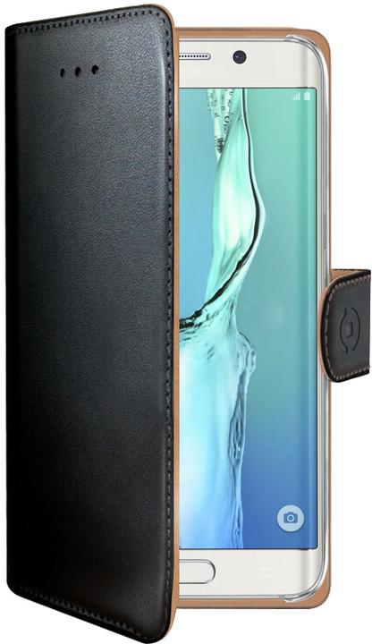 CELLY pouzdro Wally pro Samsung Galaxy S6, Edge Plus, PU kůže - černá