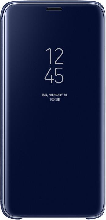 Samsung flipové pouzdro Clear View se stojánkem pro Samsung Galaxy S9, modré