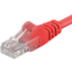 PremiumCord Patch kabel UTP RJ45-RJ45 level 5e 0.5m červená