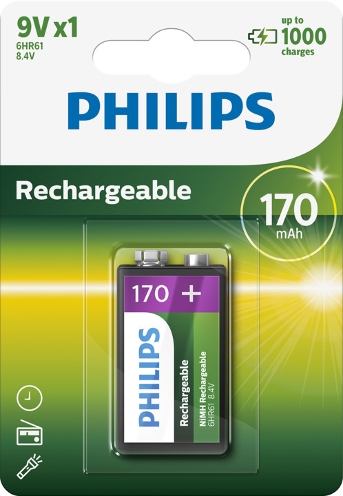 Philips 9V Ni-MH 170mAh