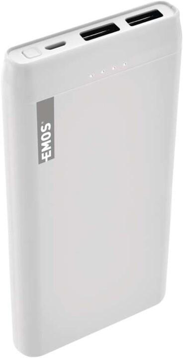 Emos Alpha 10S powerbanka, 10000 mAh, bílá