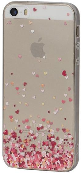 EPICO pružný plastový kryt pro iPhone 5/5S/SE FLYING HEART