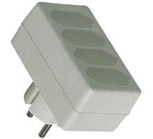 PremiumCord rozčtyřka 230V bílá 4x2,5A - ppr04
