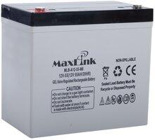 MaxLink baterie AGM 12V/55Ah, olověný akumulátor M6 - MLB-A12-55