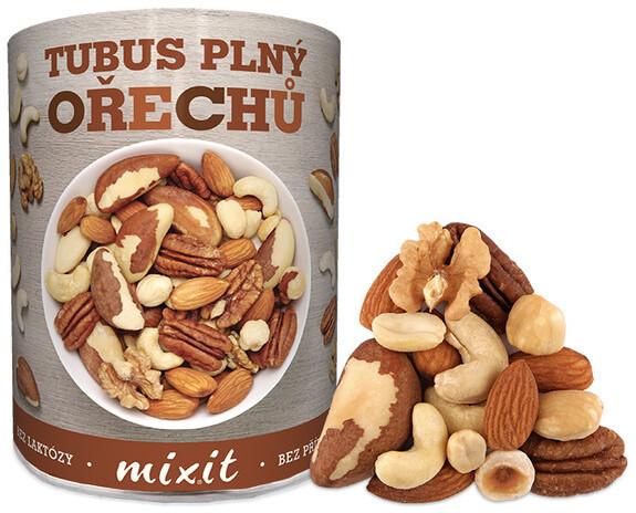 Mixit ořechy Tubus plný ořechů - mix ořechy, 400g