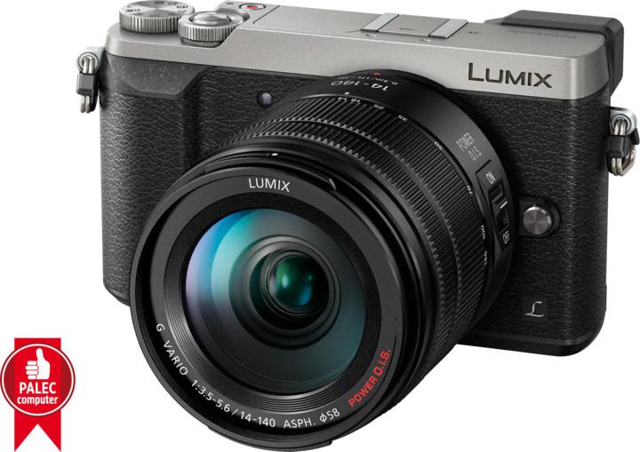 Panasonic Lumix DMC-GX80, stříbrná + 14-140 mm