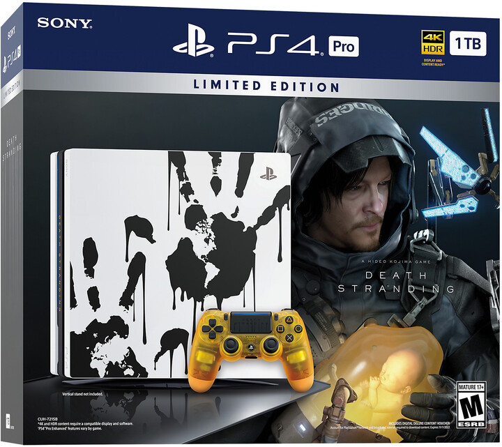 PlayStation 4 Pro, 1TB, Gamma chassis, Death Stranding Limited Edition