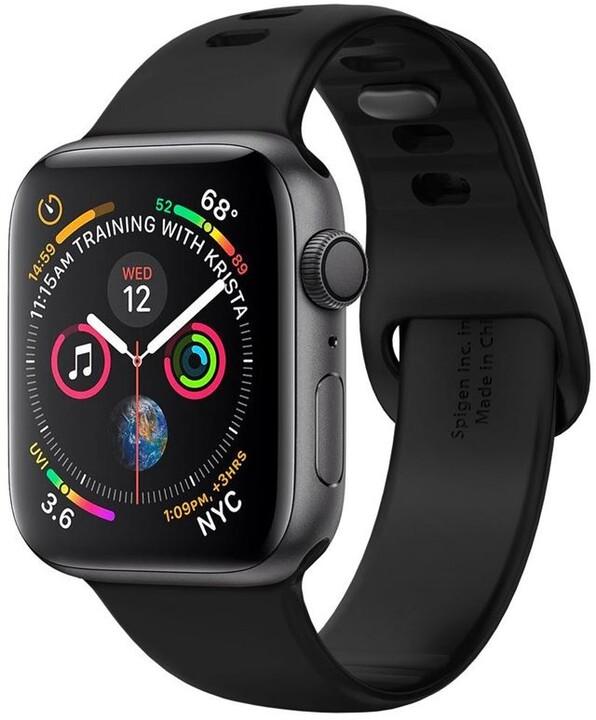 Spigen silikonový řemínek pro Apple Watch 44/42 mm, černá