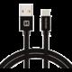 SWISSTEN textilní datový kabel USB 3.1 C/M - USB 2.0 A/M, 3m, černý