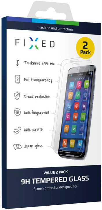 FIXED ochranné tvrzené sklo pro Apple iPhone 6/6S, 0.33 mm, 2ks