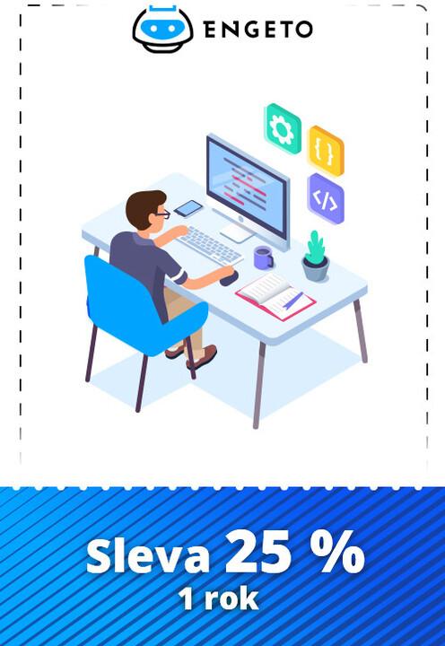 Sleva 25 % na roční předplatné online IT kurzů od Engeto Academy