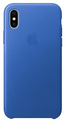 Apple kožený kryt na iPhone X, elektro modrá