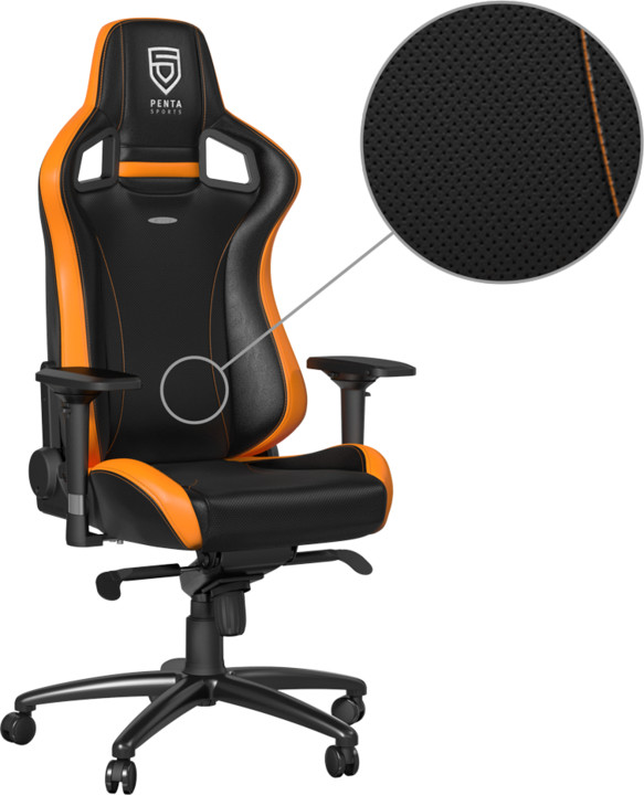 Noblechairs EPIC, PENTA Sports, černá/oranžová