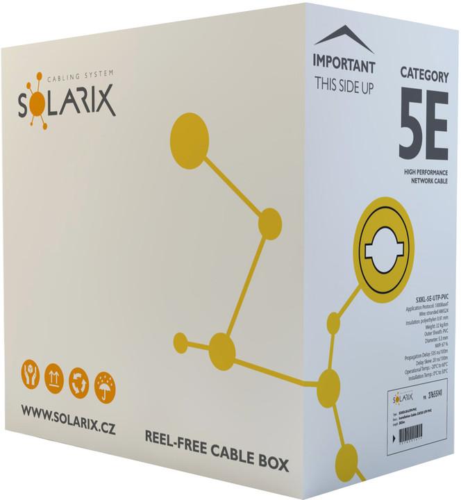 Solarix kabel licna CAT5E UTP PVC šedý 305m/box SXKL-5E-UTP-PVC-GY