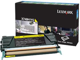 Lexmark X748H1YG, žlutá
