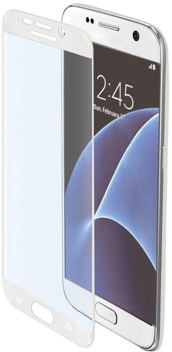 CELLY Glass ochranné tvrzené sklo pro Samsung Galaxy S7, bílé