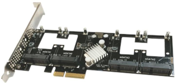 Addonics Quad mSATA PCIe SSD adaptér