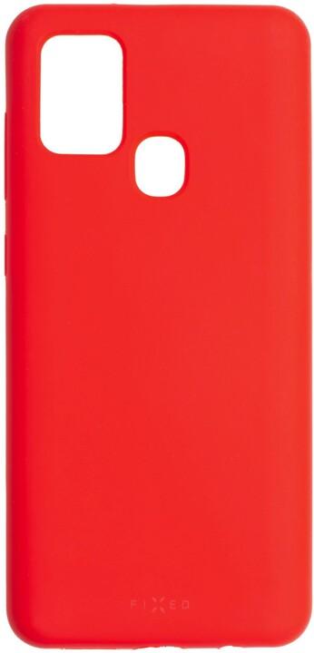 FIXED silikonový kryt Flow pro Samsung Galaxy A21s, červená