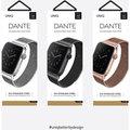 UNIQ řemínek Dante Apple Watch Series 4 Mesh Steel 44mm, stříbrná