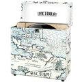 Victrola Retro Vinyl pouzdro, map print